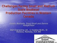 Challenges Facing Small and Medium Scale Biodiesel Production ...