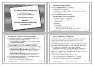 Grundlagen der Programmierung Kapitel 6 - Technische Universität ...