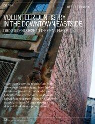 volunteer dentistry in the downtown eastside - UBC Dentistry