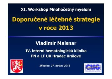 Doporučené léčebné strategie v roce 2013