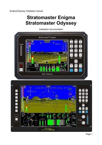 Enigma/Odyssey installation manual - MGL Avionics