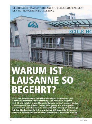 GESPRäCH MIT MARCO TORRIANI ... - hoteljournal.ch