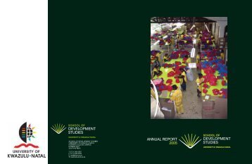 2. head of school's report - Population Studies & Development ...