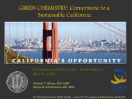 GREEN CHEMISTRY: Cornerstone to a Sustainable California