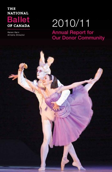 Annual Report for Our Donor Community - The National Ballet of ...