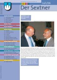 Gemeindeblatt der Sextner Juli 2006 - Nr. 62 (ca
