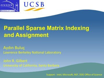 Parallel Sparse Matrix Indexing and Assignment - Stce.rwth-aachen.de