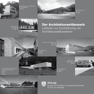 Der Architekturwettbewerb - Kammer der Architekten und ...