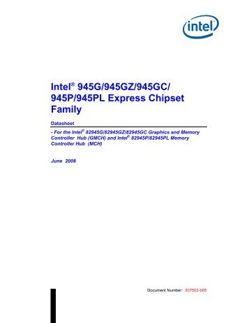 Intel 945g gz p pl