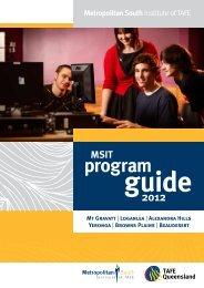 program - Metropolitan South Institute of TAFE - Queensland ...