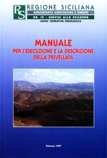 Manuale per l'esecuzione e la descrizione della trivellata