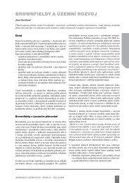 BROWNFIELDY A ÚZEMNÍ ROZVOJ - Ústav územního rozvoje