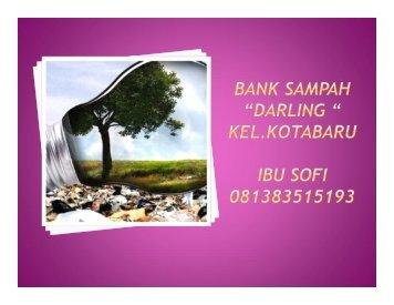 """Tentang Bank Sampah """"Darling"""" - P2KP"""
