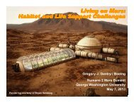 Living on Mars: Habitat and Life Support Challenges Living on Mars ...