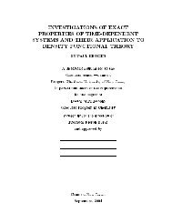 Investigations of exact properties of time-dependent systems and ...