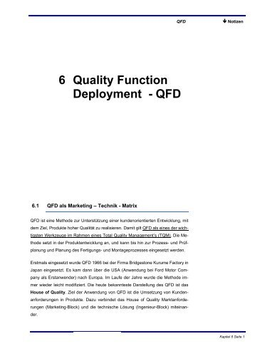 6 Quality Function Deployment - QFD