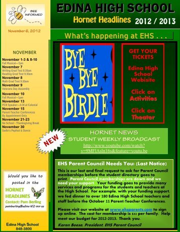 November 6, 2012 - Edina High School - Edina Public Schools