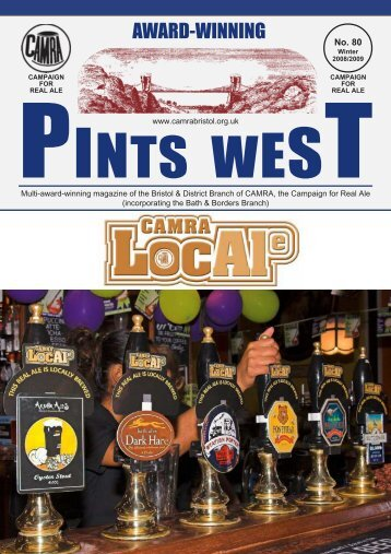 Pints West 80, Winter 2008 - Bristol & District CAMRA