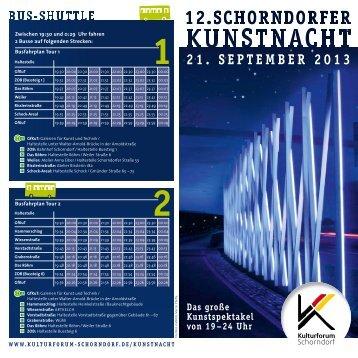 21. SEPTEMBER 2013 - Kulturforum Schorndorf
