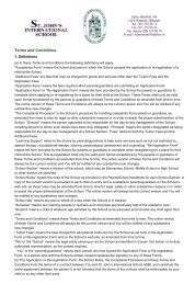 Terms and Conditions - St. John's International School