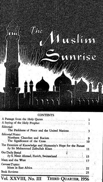 1956, III - The Muslim Sunrise