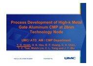 Process Development of High-k Metal Gate Aluminum ... - Sematech