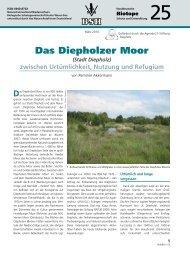 Das Diepholzer Moor - Biologische Schutzgemeinschaft Hunte ...