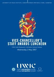 vice-chancellor's staff awards luncheon - Cardiff Metropolitan ...