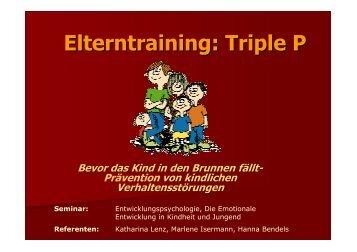 Elterntraining: Triple P