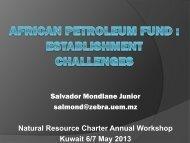 Salvador Mondlane - Natural Resource Charter