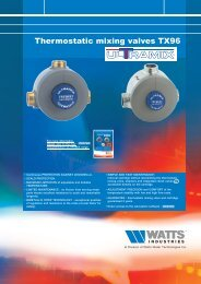Thermostatic mixing valves TX96 - Watts Industries