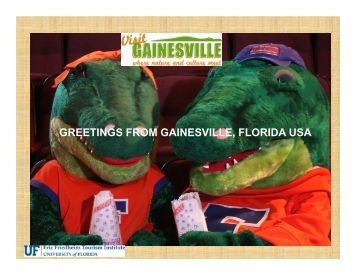 GREETINGS FROM GAINESVILLE, FLORIDA USA