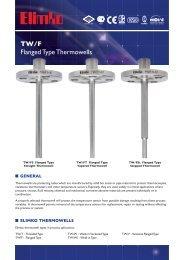 TW/F Flanged Type Thermowells - Elimko