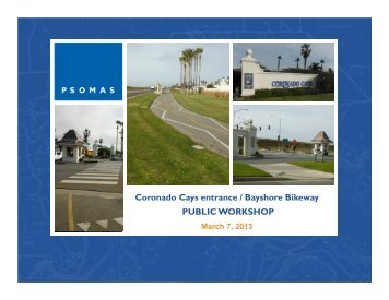 Coronado Cays entrance / Bayshore Bikeway ... - City of Coronado
