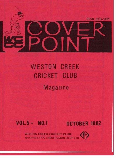 cover point - Weston Creek Cricket Club