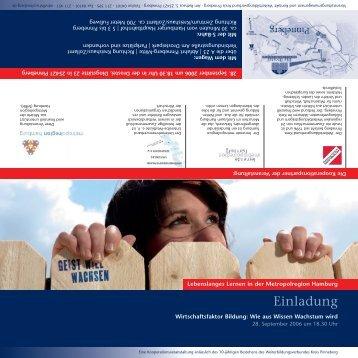 Einladung - Weiterbildungsverbund Kreis Pinneberg