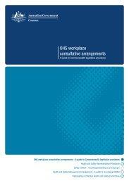 OHS workplace consultative arrangements (OHS 67) - Comcare