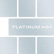 Mastercard Platinum Informationsfolder (pdf) - Raiffeisen