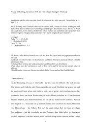 Predigt für Sonntag, den 22.Juni 08 5. S.n. Trin Jürgen Baumgart ...