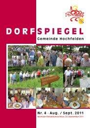 Aug. / Sept. 2011 - Gemeinde Hochfelden