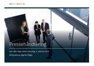 Pressehåndtering - Bech-Bruun