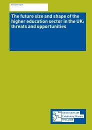 The future size and shape of HE - Universities UK