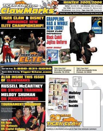 Black Cahill Jujitsu Uniform - Tiger Claw