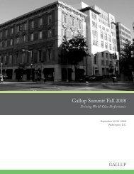 Gallup Summit Fall 2008 - Gallup.Com