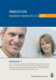 Nachtrag Nr. 2 - IMMOVATION IMMOBILIEN HANDELS AG