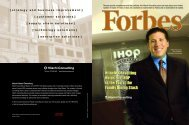 Forbes Coverwrap: IHOP - Hitachi Consulting