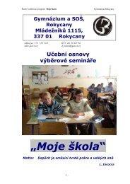 Učební osnovy předmětu - Gymnázium a Střední odborná škola