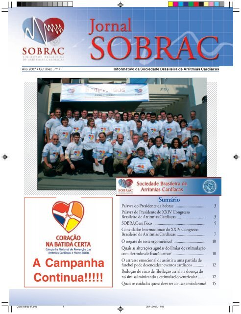 7º edição do Jornal da SOBRAC - Departamentos Científicos