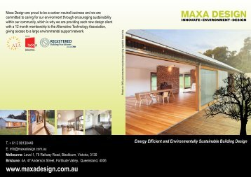 Energy Efficient and Environmentally Sustainable Building Design
