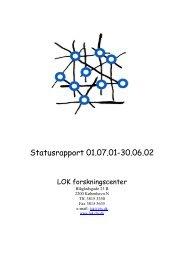 LOK forskningscenter: Statusrapport 01 - CBS